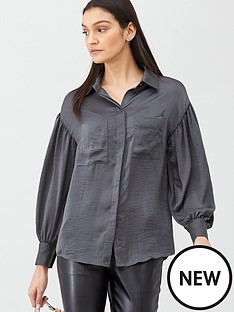 v-by-very-button-through-shirt-grey