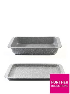 salter-marble-collection-roasting-pan-and-baking-tray-set-in-grey