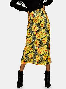 topshop-oriental-bias-midi-skirt-yellow