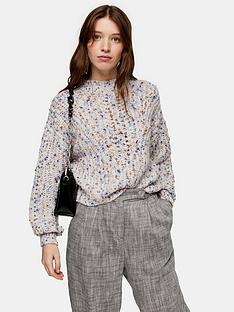 topshop-topshop-textured-pointelle-cropped-jumper-multi