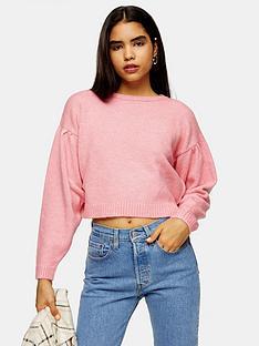 topshop-pleat-shoulder-jumper-pink
