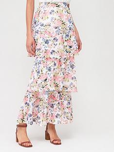 v-by-very-tiered-midi-skirt-floral-print