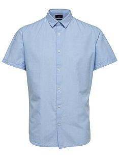 selected-homme-linen-slim-fit-shirt-blue