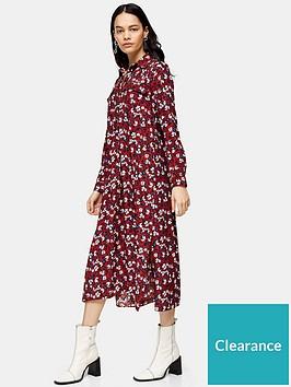 topshop-tall-trapeeze-midi-shirt-dress-burgundy