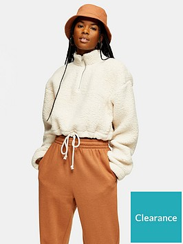 topshop-topshop-borg-funnel-pocket-top-cream