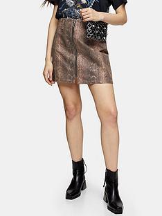 topshop-sand-coated-zip-skirt-sand