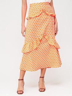 v-by-very-tiered-ruffle-maxi-skirt-neon-orangenbspspot