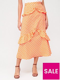 v-by-very-tiered-ruffle-maxi-skirt-neon-orangenbspspot