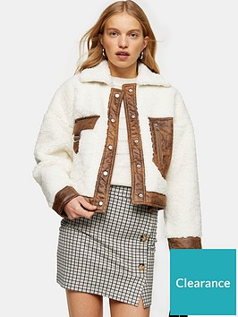 topshop-allie-borg-jacket-cream