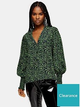 topshop-topshop-fan-shirt-green