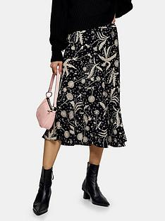 topshop-dandelion-flounce-midi-skirt-black