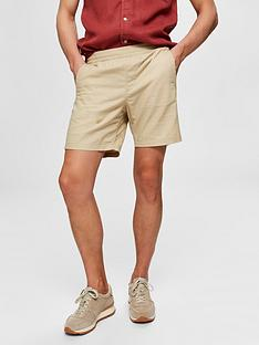 selected-homme-cooper-linen-shorts-beige