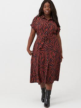 v-by-very-curve-printed-shirt-midi-dress-zebra-print