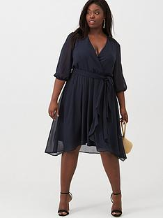 v-by-very-curve-chiffon-wrap-midi-dress-navy