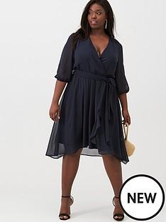 v-by-very-curve-chiffon-wrap-midi-dress-navy