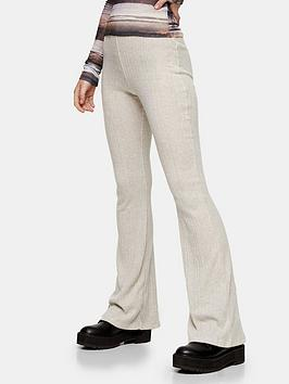 topshop-topshop-brush-rib-flared-trousers-oat
