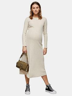 topshop-topshop-maternity-cut-and-sew-midi-dress-oat