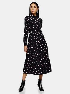 topshop-topshop-spot-tiered-shirtdress-black