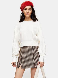 topshop-topshop-jacquard-seamed-blouse-ivory