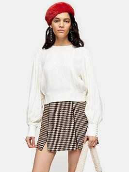 topshop-topshop-jacquard-seamed-blouse-ivory