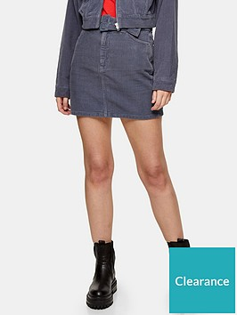 topshop-topshop-self-belt-cord-mini-skirt-blue