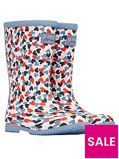 joules-girls-hearts-roll-up-wellington-bootsnbsp--white