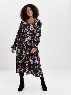 evans-floral-wrap-dress-blush