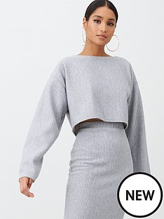 missguided-ribbed-oversized-crop-jumper