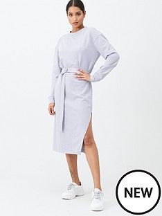 missguided-missguided-belted-midi-sweatshirt-dress-lilac