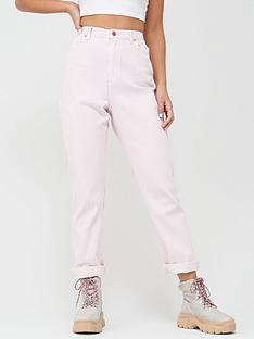 missguided-missguided-wrath-high-waisted-straight-leg-jean-co-ord-blush