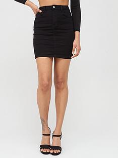 missguided-missguided-denim-super-stretch-mini-skirt-black