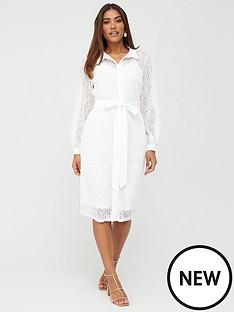 v-by-very-lace-shirt-midi-dress-white