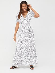 v-by-very-shirred-waist-tiered-maxi-dress-spot