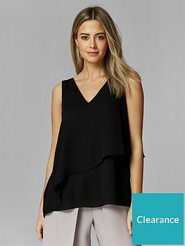 wallis-petite-double-layer-asymmetric-cami-black