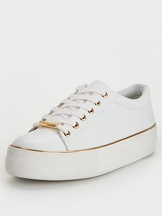 office-free-trainer-white-gold