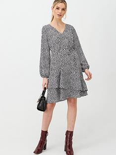 wallis-fan-tiered-fit-and-flare-dress-mono
