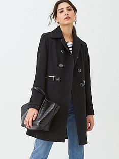 wallis-double-breasted-crepe-coat-black