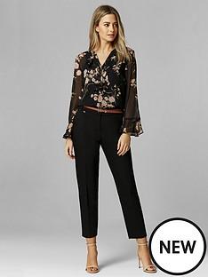 wallis-petite-double-faced-belted-cigarette-trouser-black
