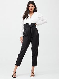 river-island-river-island-contrast-paperbag-jumpsuit-black