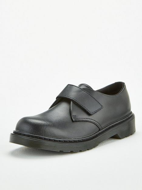 dr-martens-kamron-boys-strap-shoe-black