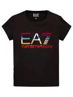 ea7-emporio-armani-girls-short-sleeve-metallic-logo-t-shirt-black