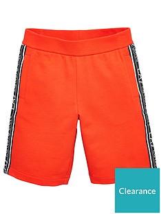 ea7-emporio-armani-boys-tape-logo-shorts-red