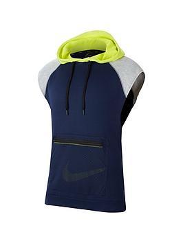 nike-dri-fit-mens-sleeveless-fleece-training-hoodie-navy