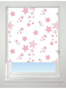 twinkle-twinkle-blackout-roller-blind-pink