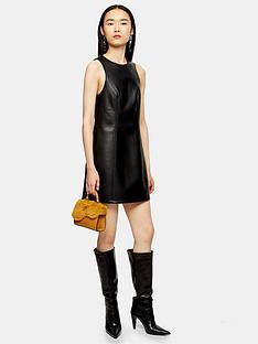 topshop-topshop-pu-pinaforenbspdress-black