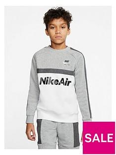 nike-sportswear-air-older-boys-crew-neck-sweat-greywhite