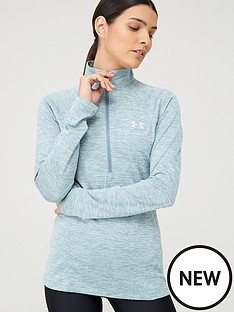 under-armour-tech-12-zip-twist-top-blue