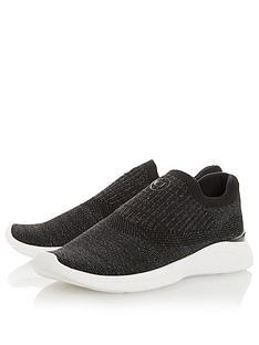 dune-london-easy-slip-on-trainer-black-fabric