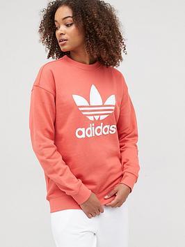 adidas-originals-trefoil-crew-sweatshirt-rednbsp