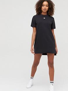 adidas-originals-trefoil-t-shirt-dress-blacknbsp